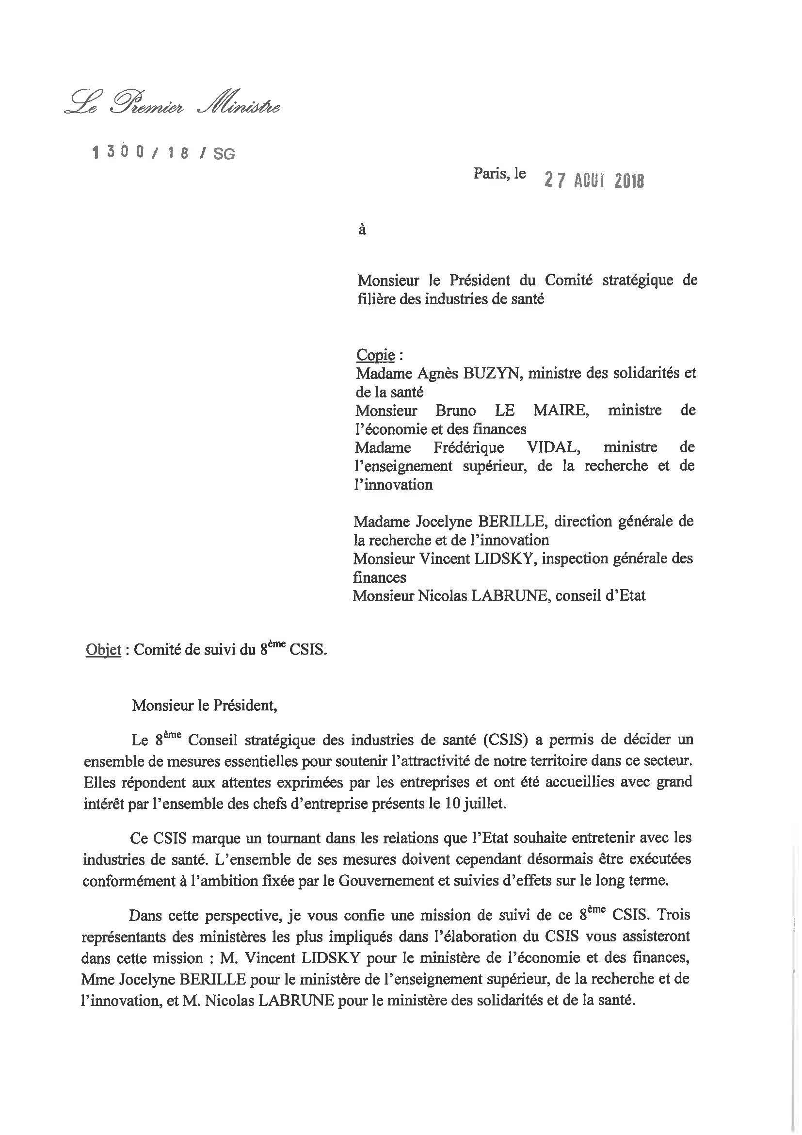 Comité de suivi du 8e CSIS